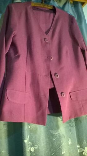traje para dama, de material lino