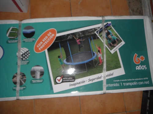 trampolin brincolin con red seguridad 2.43m uso rudo nuevo