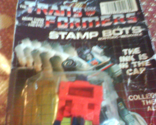 transformers-stamp bots c /sello hasbro 1984-retro c/blister