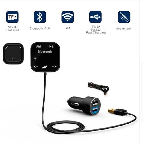 transmisor bluetooth mod, bt-760, manos libres,mp3, cargador