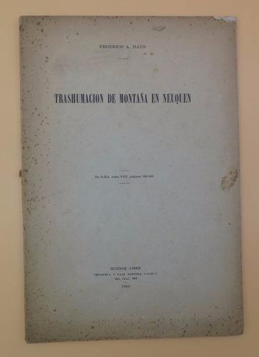 trashumación de montaña en neuquén - federico a. daus