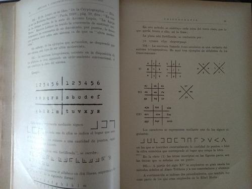 tratado y curso de criptografía. militar naval y diplomática