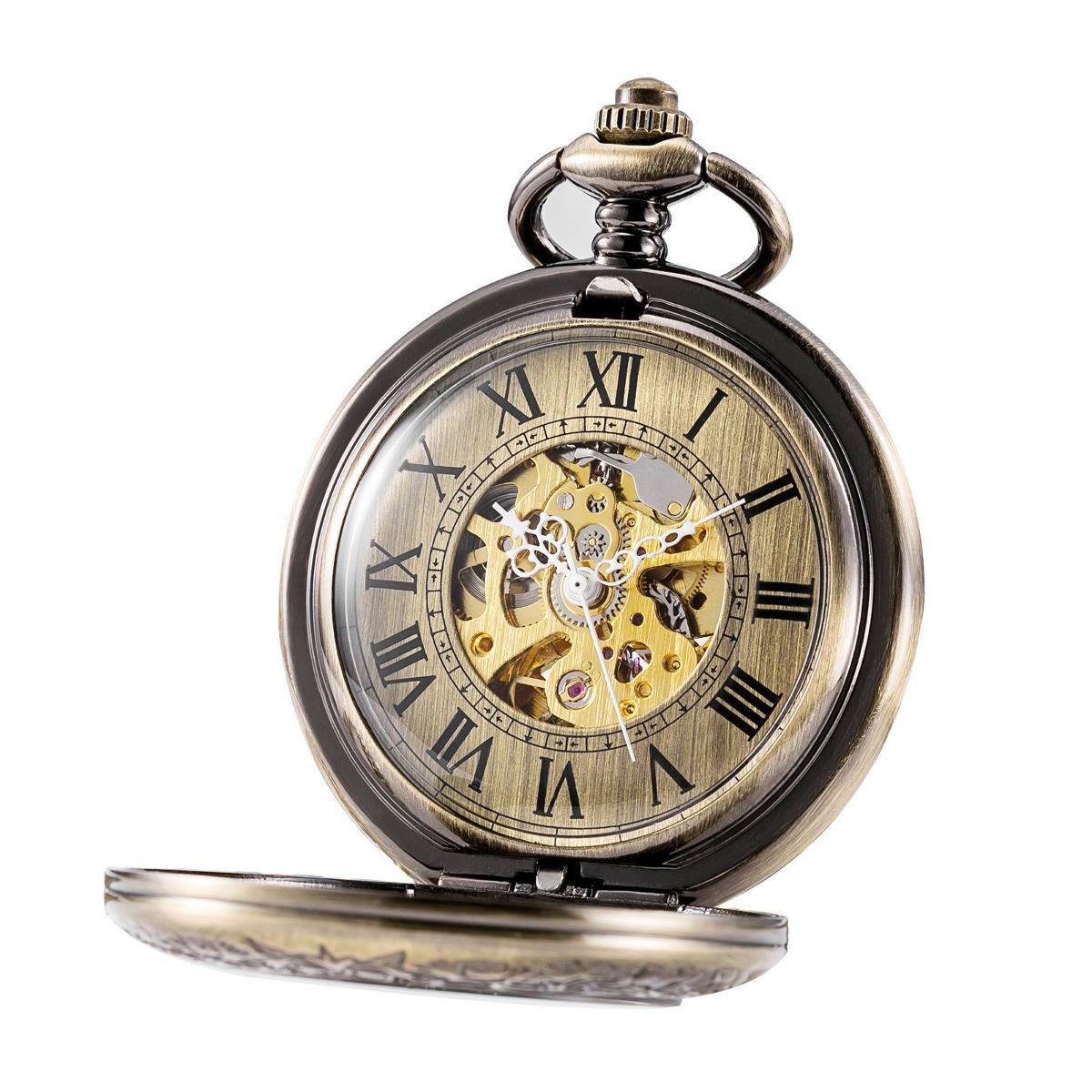 calidad 60% de liquidación mejor precio Treeweto Reloj De Bolsillo Mecánico Automático Half Hunte