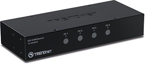 trendnet 4 port dvi usb type a kvm switch with audio