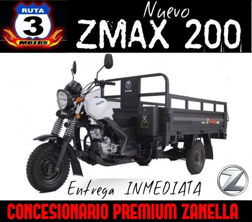 tricargo zanella zmax 200 w aguatero utilitario 0km 2018