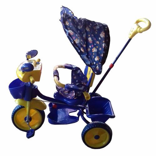 triciclo kissme deluxe c/ dirección capota azul el cerro