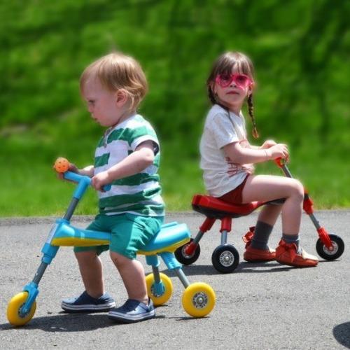 triciclo plegable para niños - fucsia