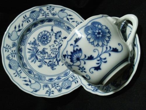 trio en porcelana meissen