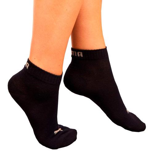 tripack puma 3 pares de medias de hombre y mujer de algodón