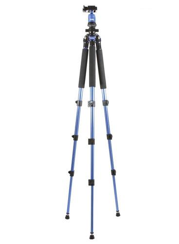 trípode cámara vivitar mpt-600 azul magnesio 1,57 mt altura