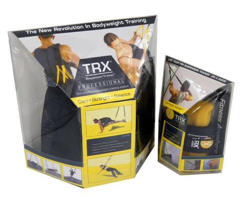trx banda entrenamiento suspensión + 2 mini bosu supergym