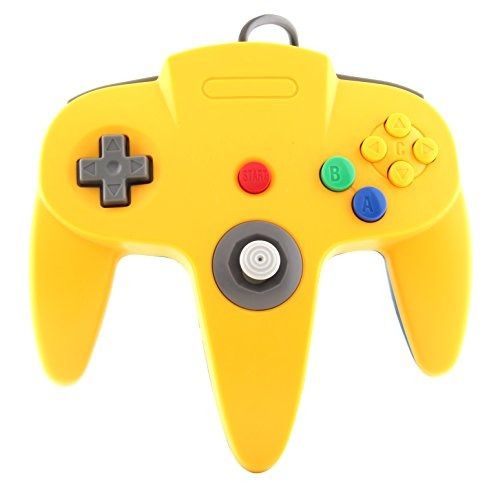 ttx n64 controller og yellow-blue nintendo 64