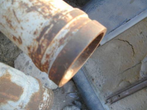 tubo con ranura para bomba concreto 3 x10' usado