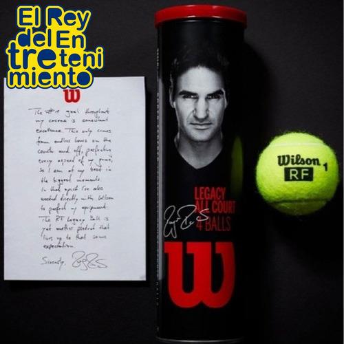 tubo x4 pelota de tennis wilson roger federer legacy el rey