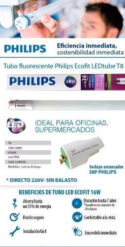 tubos led philips ecofit