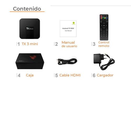 tv box android tx 3 mini 2gb de ram y 16 gb - black dog