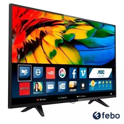 tv led lcd aoc 32 hd smart digital hdmi usb gtia 2 años febo