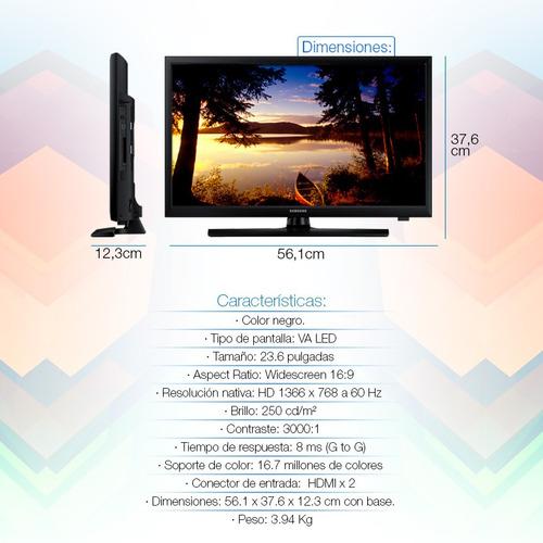 tv led samsung de 24' con hdmi + soporte incluído en loi