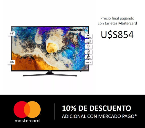 tv led samsung smart 49´ 4k uhd 49mu6100 - la tentación