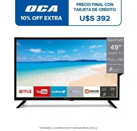 tv led smart 49 full hd smartlife netflix wi fi pcm