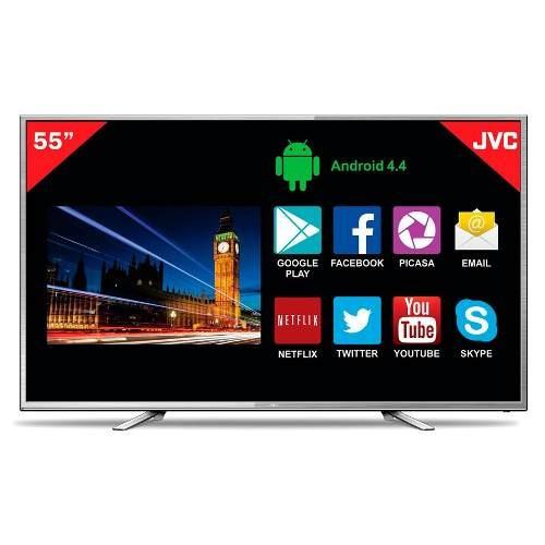 tv smart jvc 55' full hd quad core android gtía 3 años loi