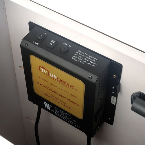 tvliftcabinet inc prism white 360 swivel tv lift