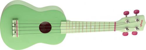 ukelele stagg us grass design soprano ukulele with black