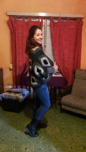 ultima moda !!!!! saco chal crochet