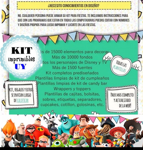 ultra mega kit imprimible para armar tu negocio scrapbook