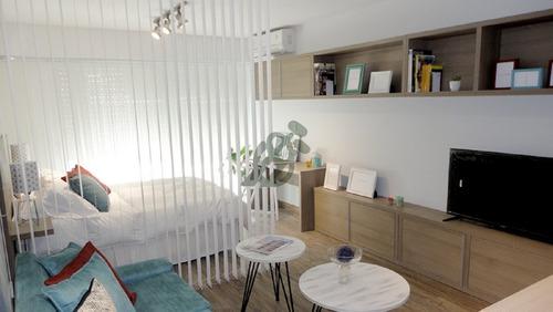 un dormitorio contrafrente, super amplio 58 mts, dos meses de alquiler gratis. - ref: 1265