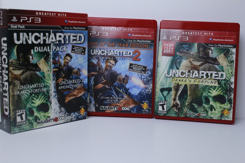 uncharted & uncharted 2 dual pack - playstation 3