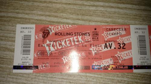unicas!! entradas sin usar para ver a los rolling stones2016