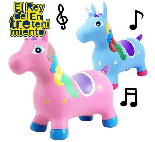 unicornio burrito saltarín inflable juguete sonido - el rey