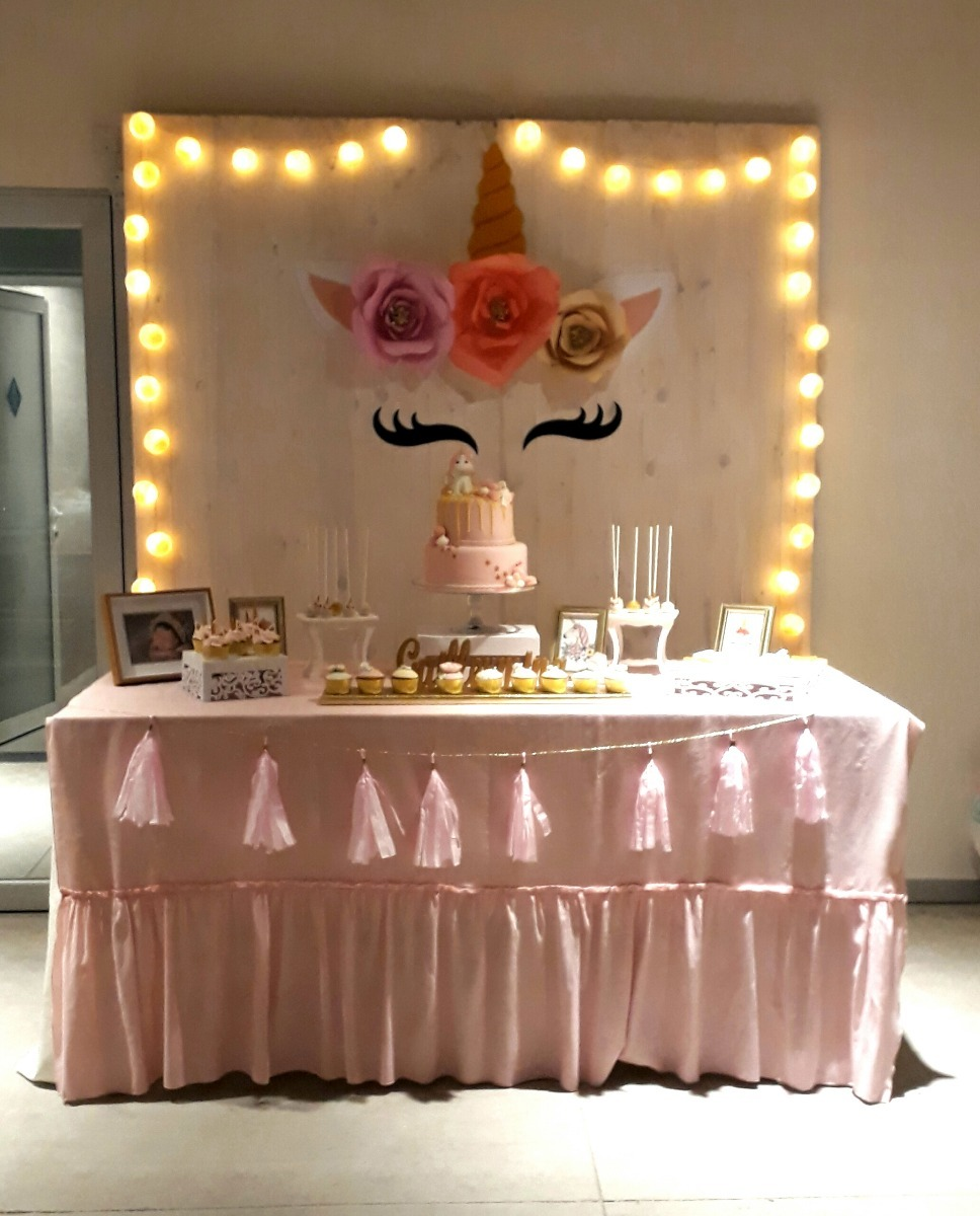 Unicornio decoraci n cumplea os babyshowers mesa dulces for Decoracion para mesa dulce