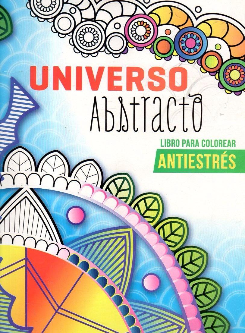 Universo Abstracto Libro Para Colorear Antiestrés 10000 En