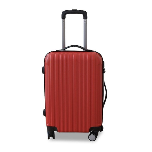 valija rigida grande rojo con ruedas giratorias