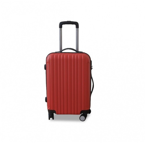 valija rigida mediana roja con ruedas giratorias