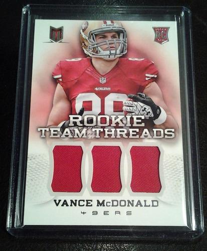 vance mcdonald tarj c jsy rookie threads 2013 49ers rnt