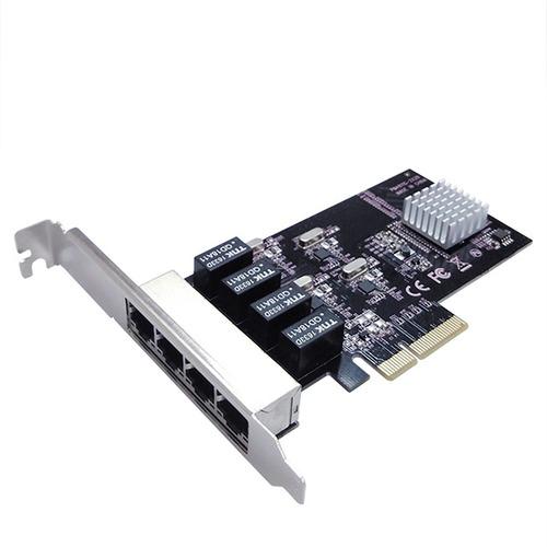 vantec 4 port pcie gigabit ethernet network card with low