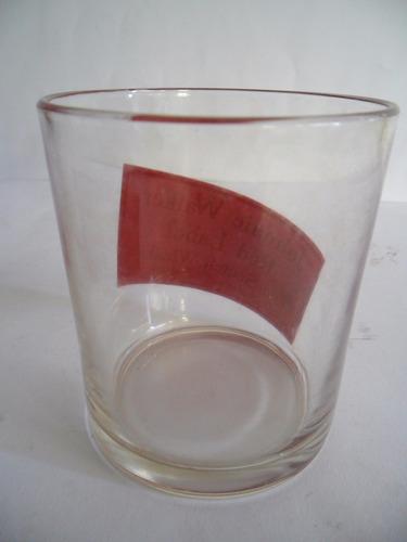 vaso de whisky jhonnie walker red label corto imperdible.///