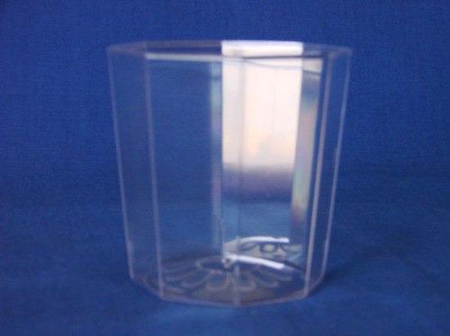 vaso plastico cristal descartable 200cc. x 25un.