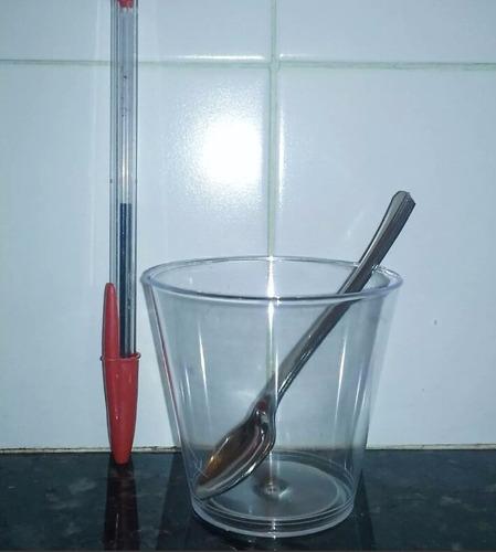 vasos acrilico descartables shot , mini postres