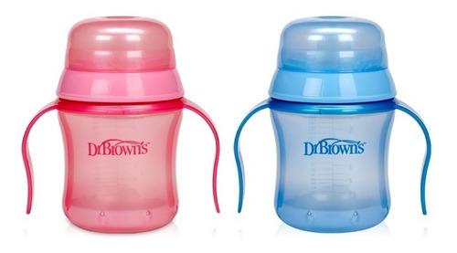 vasos de entrenamiento 180 ml dr. brown´s rosado
