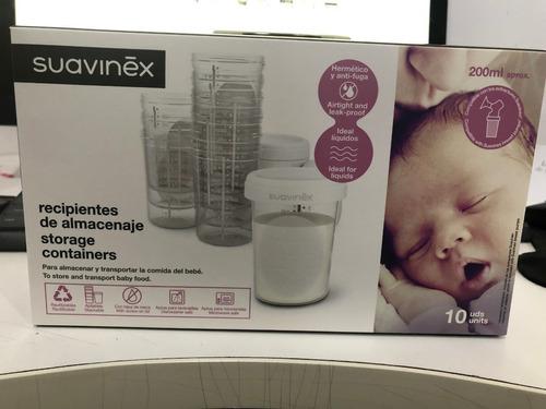 vasos para almacenaje leche materna 10 uds sin bpa suavinex