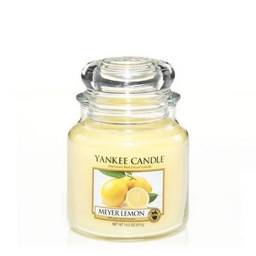 vela aromática medium jar meyer lemon yankee candle