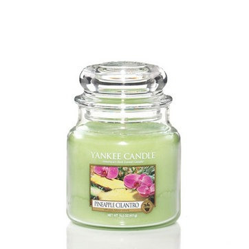 vela aromática medium jar pineapple cilantro yankee candle
