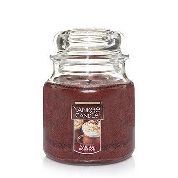 vela aromática medium jar vanilla bourbon yankee candle