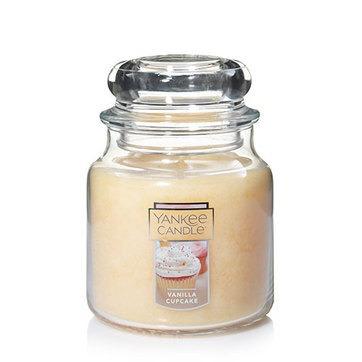 vela aromática medium jar vanilla cupcake yankee candle