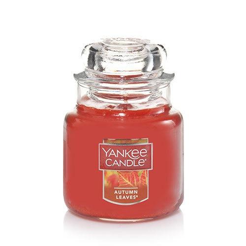 vela aromática small jar autumn leaves yankee candle