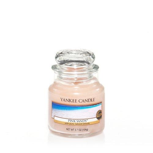 vela aromática small jar pink sands yankee candle